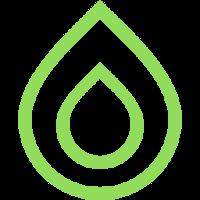 goccia verde 200x200